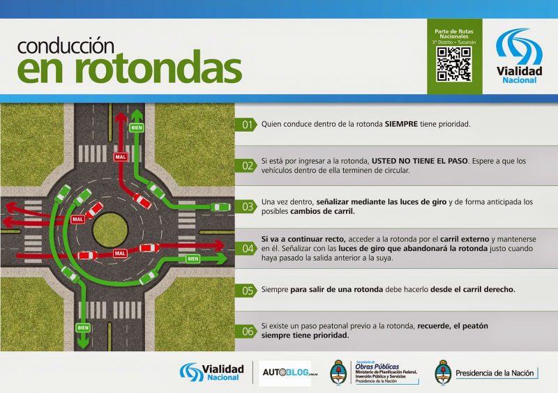 culpa accidentes en rotondas